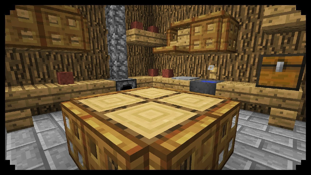 Minecraft how to make a medieval kitchen youtube How do you design a kitchen