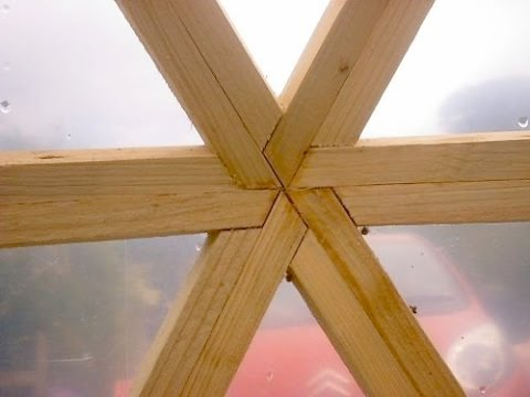 Dome building methods - Beveled frame - YouTube