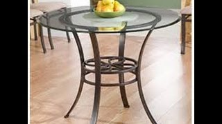 Wildon Home Pollard Dining Table with Glass Top