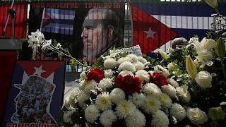 Куба  в Гаване начинается церемония прощания с Кастро