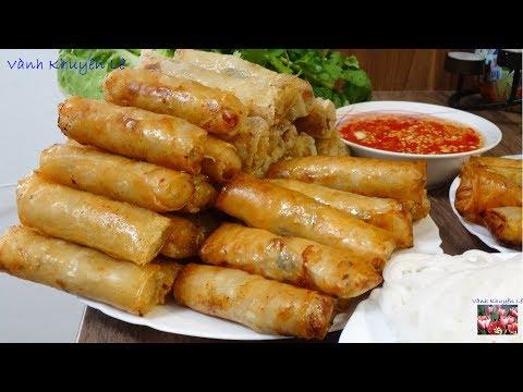 CHẢ GIÒ - Bí Quyết Làm Chả Giò Bánh Tráng VIỆT NAM Giòn Rụm - Vietnamese Springrolls By Vanh Khuyen