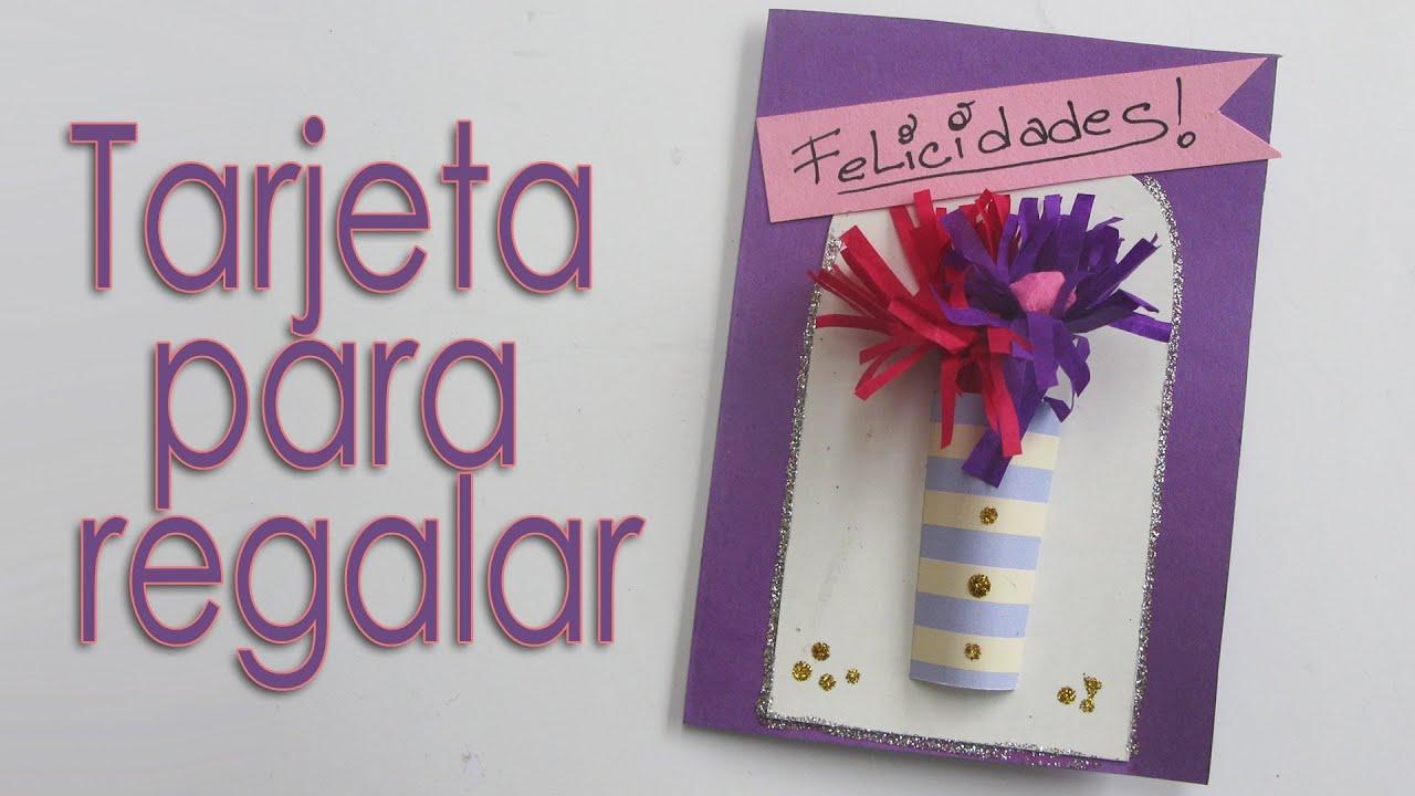 Manualidades para regalar tarjeta 3d greeting card for Manualidades caseras para regalar