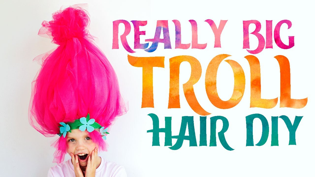 How To Make A Troll Wig Easy Youtube