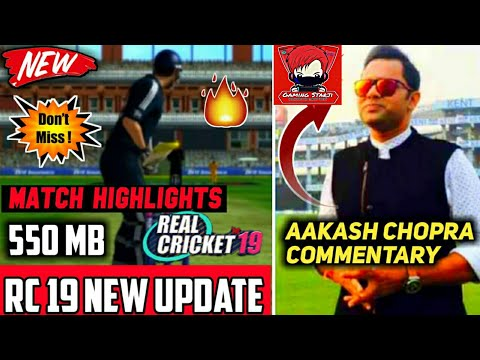 🔥RC19 BIG UPDATE LAUNCH--AAKASH CHOPRA COMMENTARY / MATCH Highlight FEATURE --BIG UPDATE OF RC19-- - 동영상
