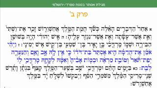 Megillah of Esther Sefaradi Yerushalmi Purim Sepharadic Chapter 2 Summary