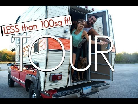 Truck Camper Tour | Young Couple Traveling & Living Off The Grid