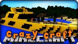 Minecraft Mods - CRAZY CRAFT 2.0 - Ep # 13 ' WOLVERINE SPEED BOAT!!'