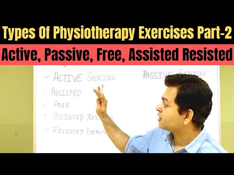 Types Of Physiotherapy Exercises Part 2, Free Exercise, Active Assisted Exercises, Passive Exercise