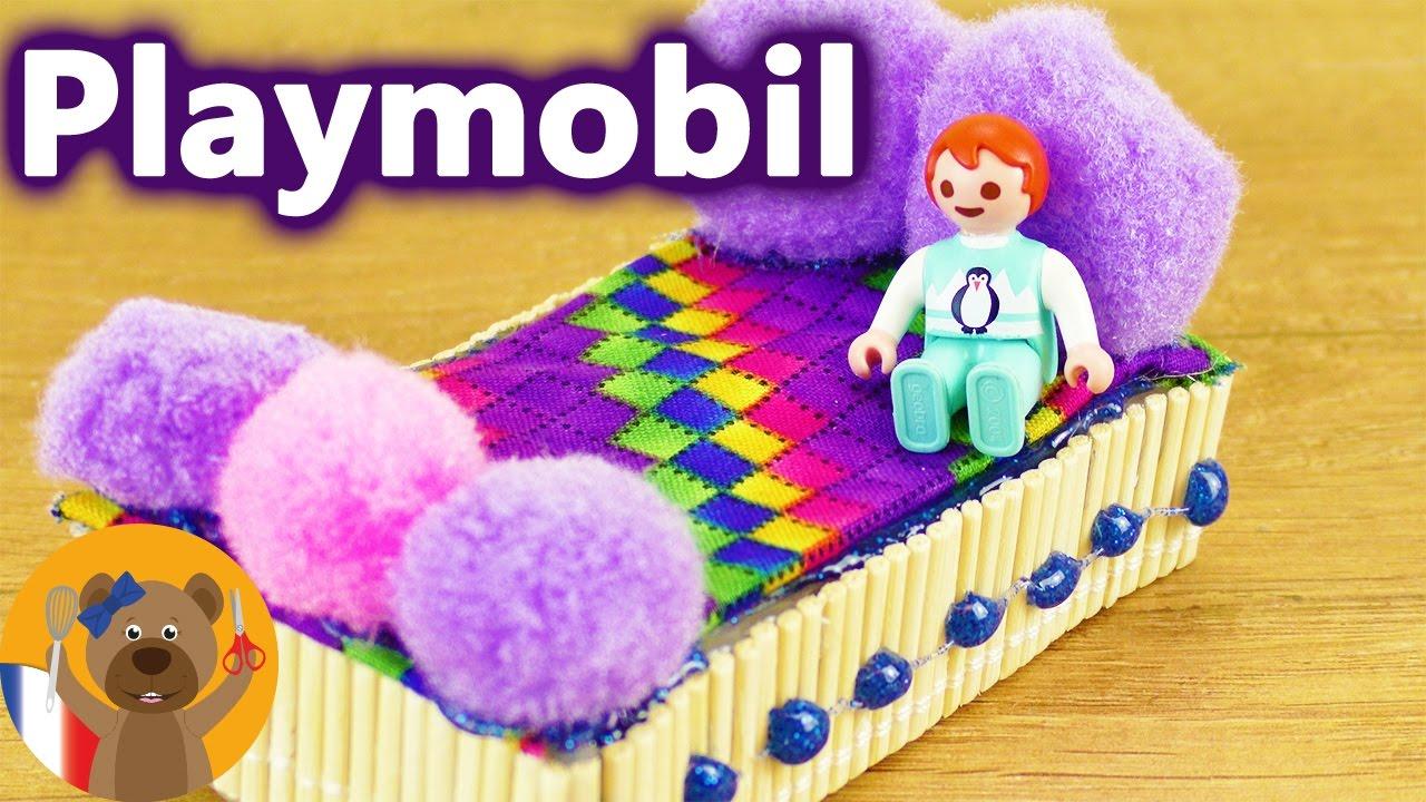 fabriquer un lit playmobil soi m me pour emma brie faire des meubles pour poup es et playmobils. Black Bedroom Furniture Sets. Home Design Ideas