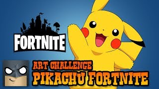 Pikachu Fortnite Skin | Awesome Art Challenge
