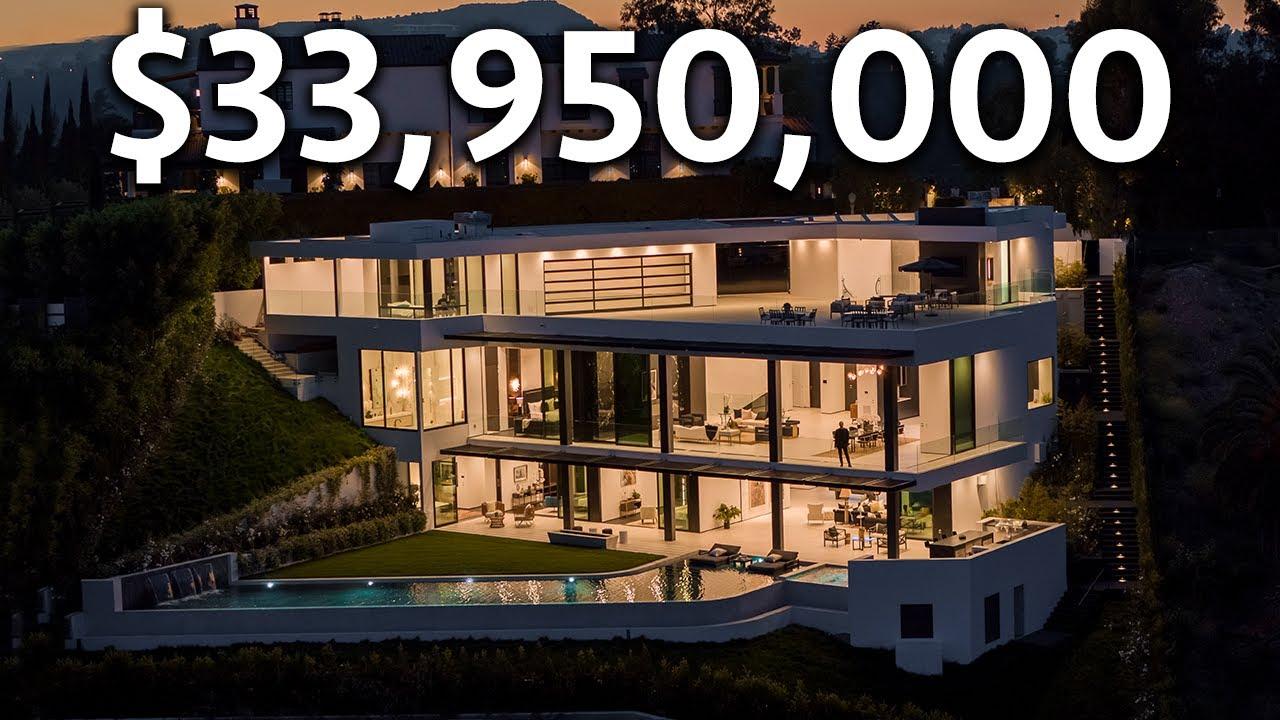 Inside a $33,950,000 BEVERLY HILLS Modern Mega Mansion
