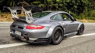 Cars Leaving Nürburgring Tankstelle! Merc SLS AMG, GTR, Aventador SVJ, R8, 911 Widebody, BMW M2 M4