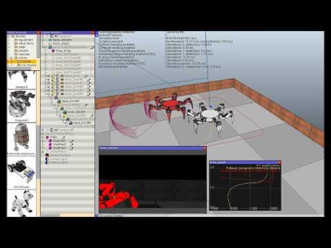 Robotics Simulator: V-REP Demo Video February 2011