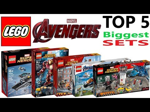 Lego Avengers Top 5 Biggest Sets Of All Time - Lego Speed Build Review
