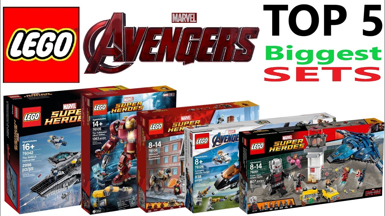 Lego Avengers Top 5 Biggest Sets Of All Time Lego Speed Build Review Youtube
