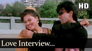 Love Interview - Suneil Shetty - Shilpa Shirodkar - Raghuveer - Hindi Song