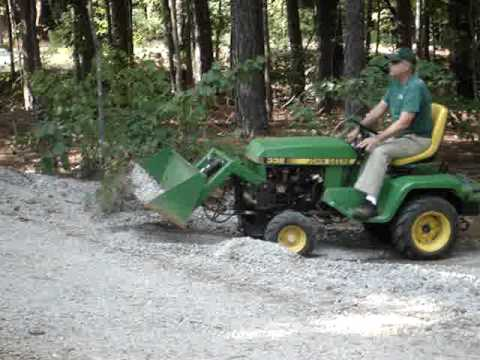 John Deere 332 With Buford Bucket Moving Gravel Youtube