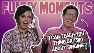 Andy Samberg Poking Fun at Selena Gomez FUNNY MOMENTS | Hotel Transylvania 3