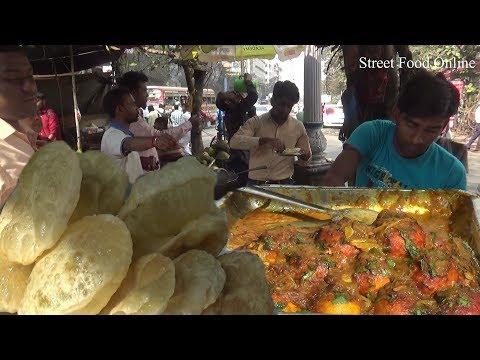 Egg Curry | Roti | Potato Soya Bean in Kolkata Street | Cheap Lunch Meal | Street Food Online