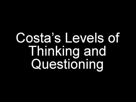 Costas Levels of Thinking and Questioning