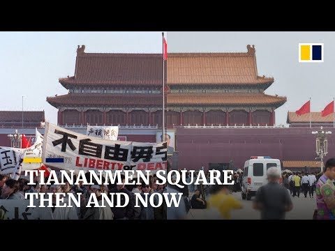 Beijing's Tiananmen Square, then and now