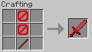 Minecraft but you can craft swords from BARRIERS...