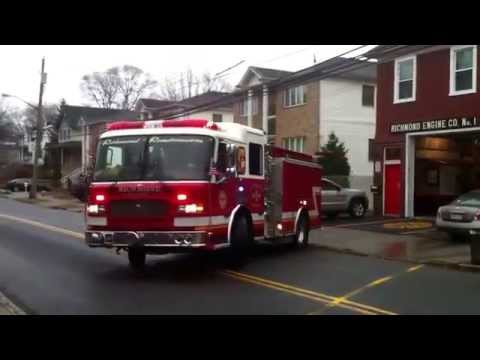 Richmond Engine Company 1 from Staten Island,NY responding on a run