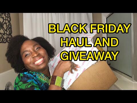 BIGGEST Natural Hair Products Haul and GIVEAWAY : Black Friday LIVE