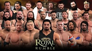 WWE 2K17 Royal Rumble - 30 Man Royal Rumble Match!