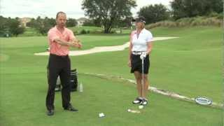 Golf Swing Exercise - Shoulder rotation with club arm connection