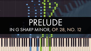 Frédéric Chopin - Prelude in G sharp Minor, Op. 28, No. 12 (Synthesia)