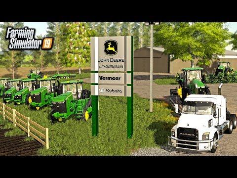 $8,000,000 SPENT STOCKING EQUIPMENT AT JOHN DEERE DEALERSHIP (ROLEPLAY) | FARMING SIMUALTOR 2019