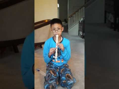 Angels We Have Heard on High on Soprano Recorder