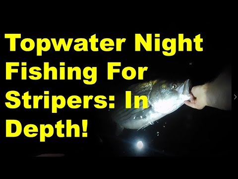 Fishing Topwaters For Night Time Stripers
