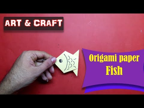 DIY  How to make an origami paper Fish 1 || Art & Craft ||  Open Mind 🎊