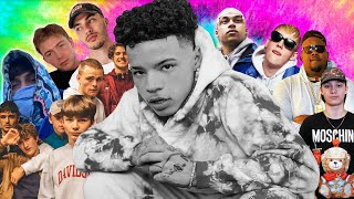 LIL MOSEY REACTS TO SCANDINAVIAN RAP VIDEOS. | YLTV