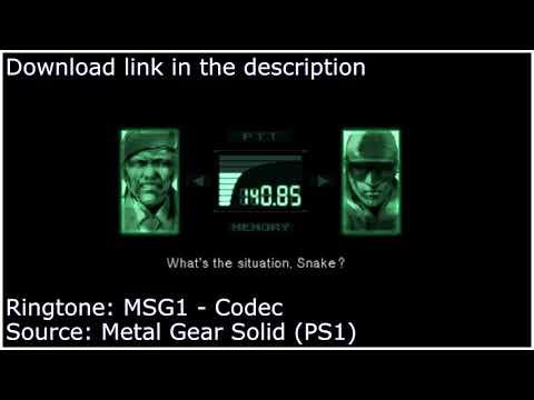 Metal Gear Solid - Codec Ringtone - Download