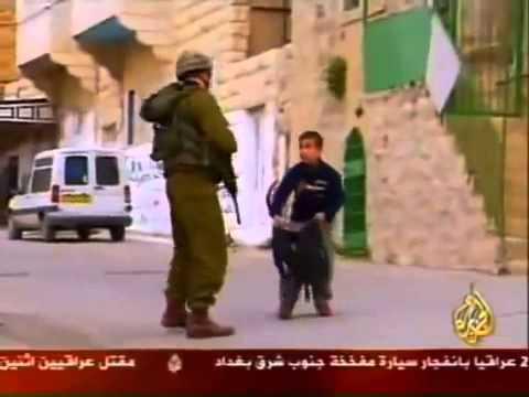 Israeli soldier brutally treat palestinian child .