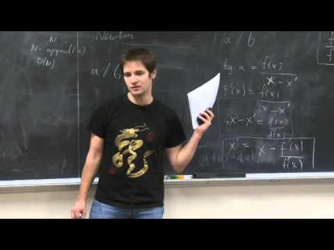 R12. Karatsuba Multiplication, Newton's Method