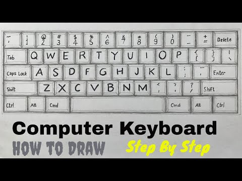 How To Draw A Computer Keyboard How To Draw A Keyboard Step By Step Easy Youtube