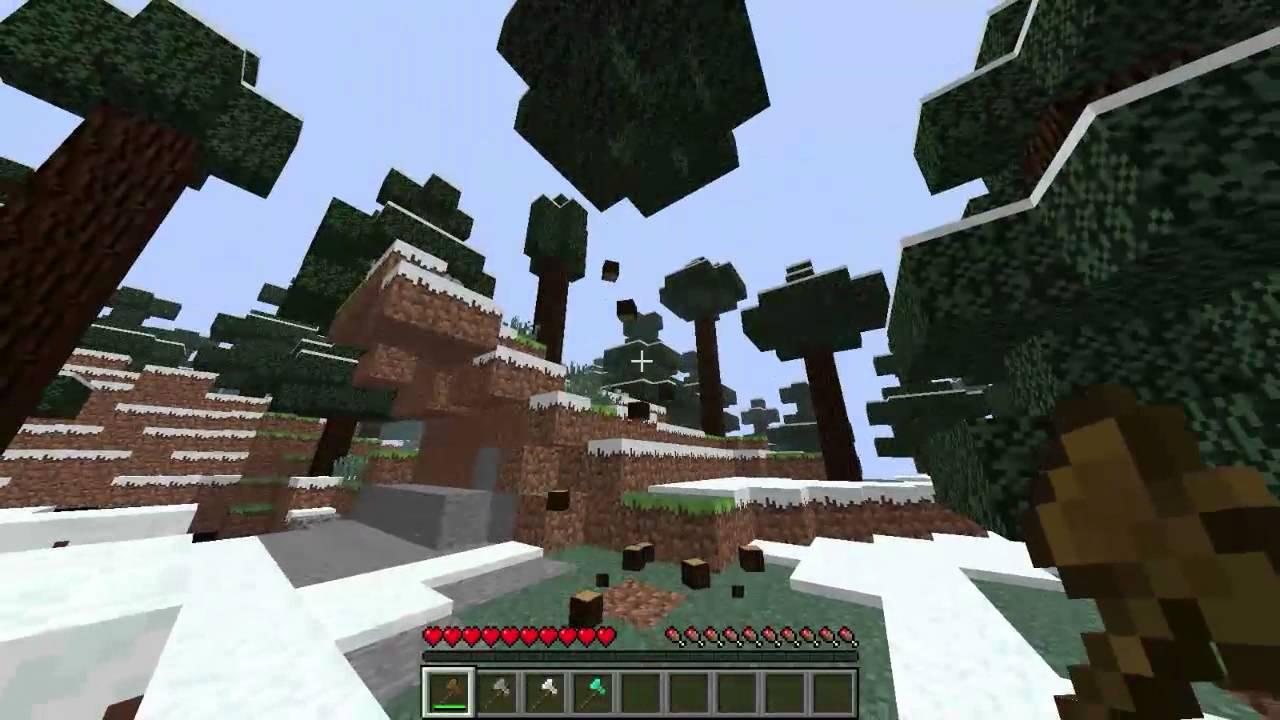 Быстрая рубка деревьев в майнкрафт 1 8 3
