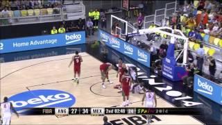 Mundial Basketball - Mexico vs Angola partido completo 02-09-2014