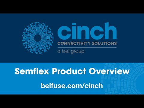 Cinch Connectivity Solutions Semflex Brand of RF/Microwave Cables, Cable Assemblies & Connectors