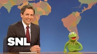 Weekend Update: Really!?! Pizza Sauce is a Vegetable w/ Kermit the Frog - SNL