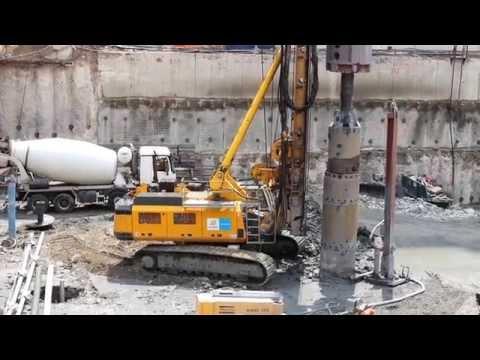 Maintor-Baustelle Fundamentgründung durch Bilfinger Spezialtiefbau