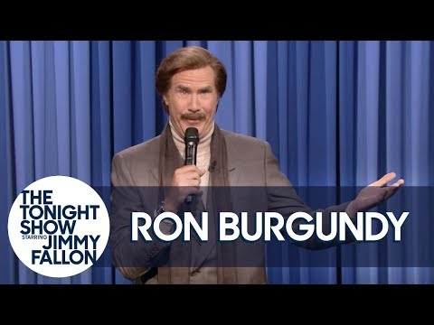 Trace - Ron Burgundy (Poorly) Attempts Stand-Up Comedy To Promote Podcast