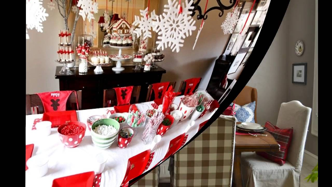 Christmas Dining Room Decoration Room Ideas Youtube