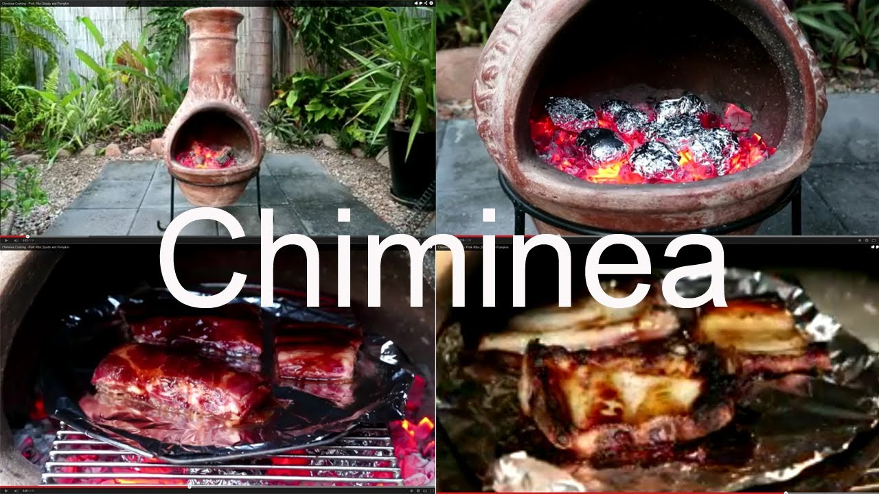 CHIMINEA   How To Cook Perfect Pork Ribs And Roast Vegies HOW TO GUIDE    YouTube