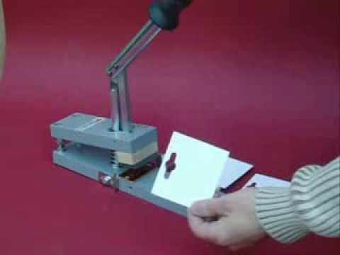 Paperfox MP-1 Paper punch with Paperfox EP-2 euro hole tool