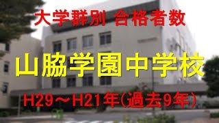 山脇学園中学校 大学合格者数 H29~H21年【グラフでわかる】